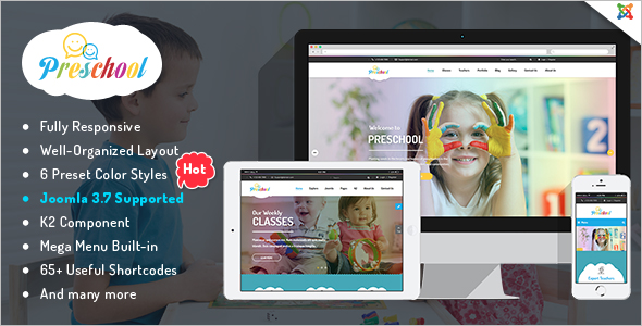 Preschool Joomla Template
