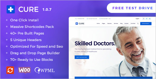 Professional Medical WordPress Theme