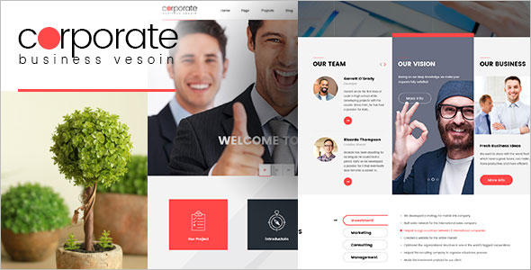 Responsive Corporate WordPress Theme