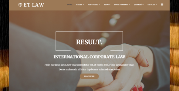 Responsive Law Joomla Template