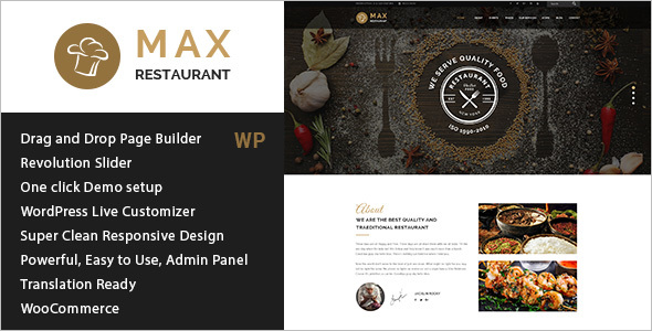 Restaurant WordPress Responsive Theme