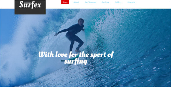 Surfing Responsive Drupal Theme