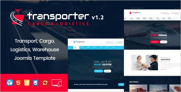 Transport Joomla Template