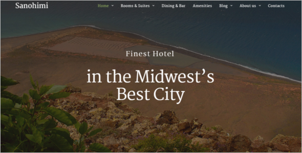 Vocational Hotel WordPress Theme