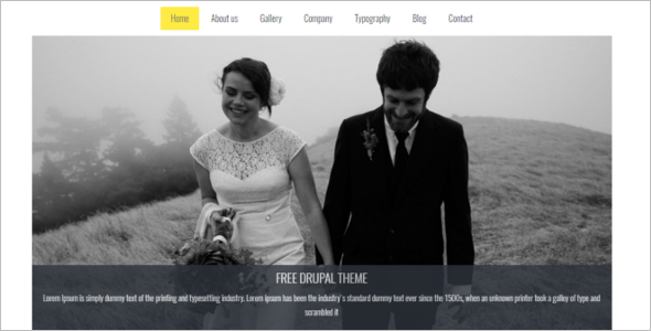 Wedding Free Drupal Theme