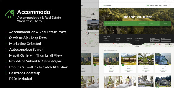 Accommodation Travel WordPress Theme