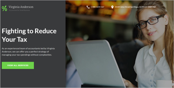 Accounting Web Template