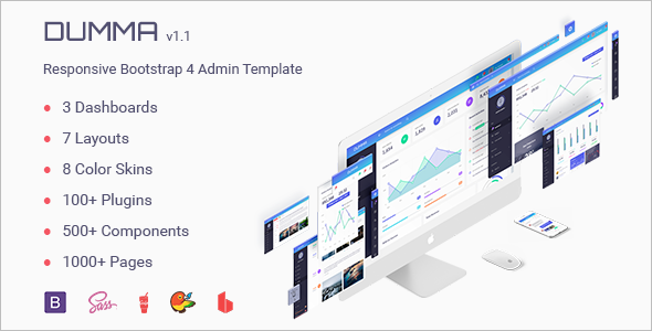 Admin Dashboard Landing Page Template