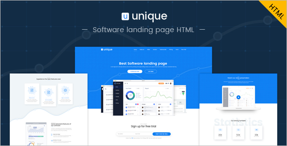 Admin Landing Page Template
