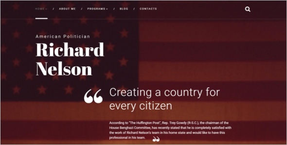 American Politician HTML Theme