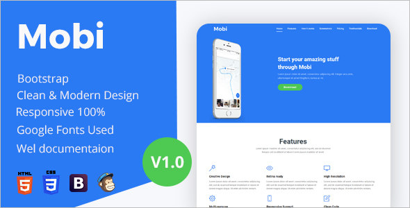 App Landing Page Bootstrap Template