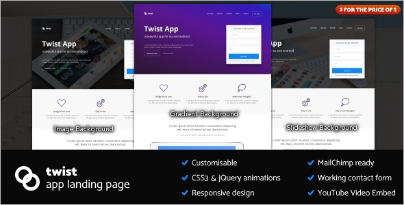 App Landing Page Responsive Template