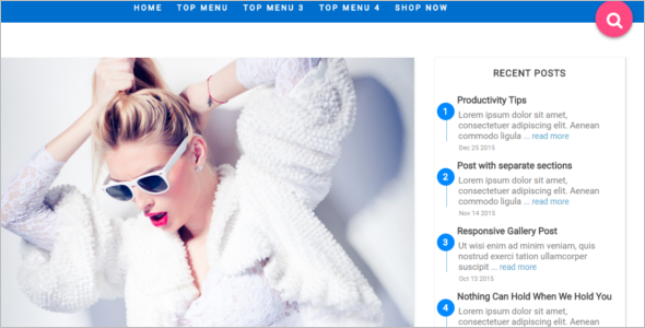 Awesome Blogger Template