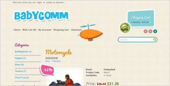 BabyComm OpenCart Template
