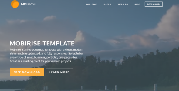 Background Bootstrap Template