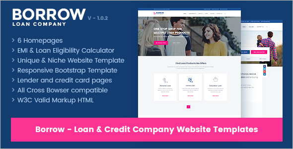 Bank Loan Website Template