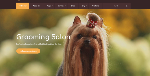 Beautiful WordPress Pet Shop Theme