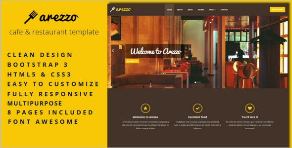 Best HTML Restaurant Website Template