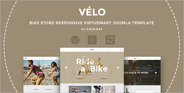 Bike Store VirtueMart Template