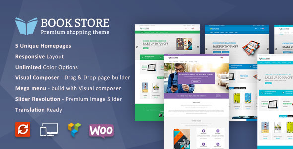 Book Store WordPress Responsive Theme
