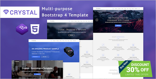 Bootstrap 4 Website Template