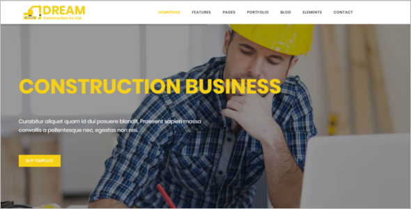 Bootstrap Construction Website Template