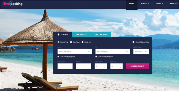Bootstrap Hotel Website Template