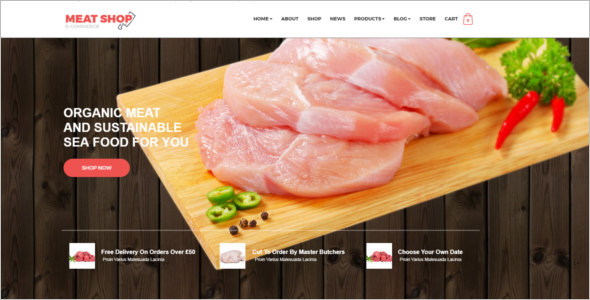 Bootstrap Meat Shop Template