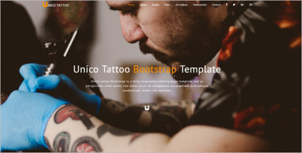 Bootstrap Tattoo Template