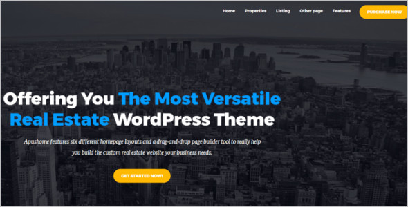 Business Real Estate WordPress Theme