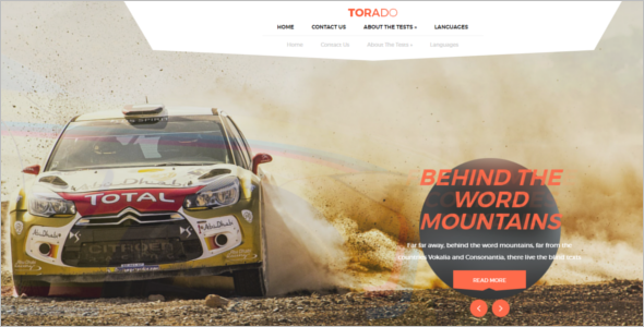 Car Racing WordPress Theme