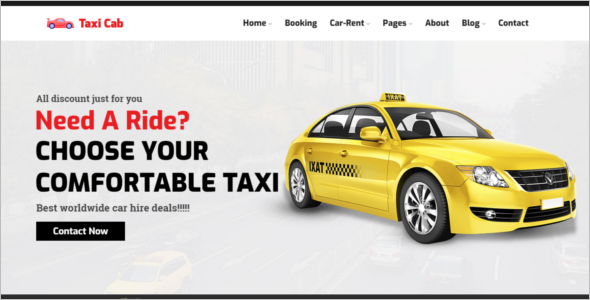 Car Rental Website Template