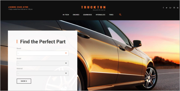 Cars PrestaShop Theme