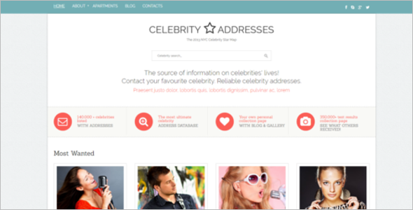 Celebrity News Website Template