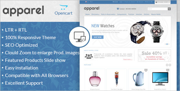 Classic Responsive OpenCart Template