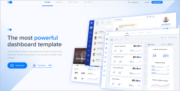 Clean Admin Dashboard HTML Template