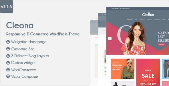 Clean E-commerce WordPress Theme