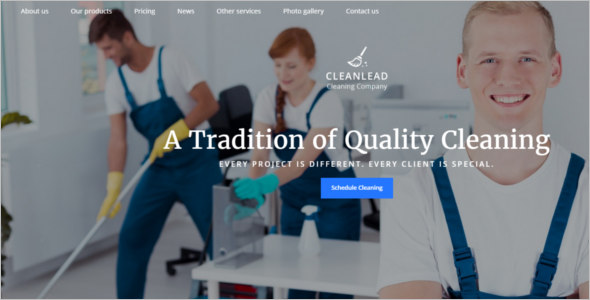 Cleaning Supplies Website Template