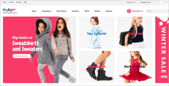Clothes Store Responsive OpenCart Template