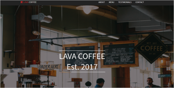 Coffee Shop Bootstrap Template