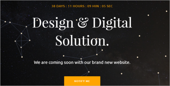 Comming Soon Landing Page Template