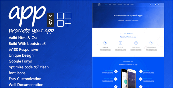 Compatible Landing Page Template