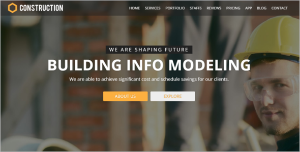 Construction Company Bootstrap Template