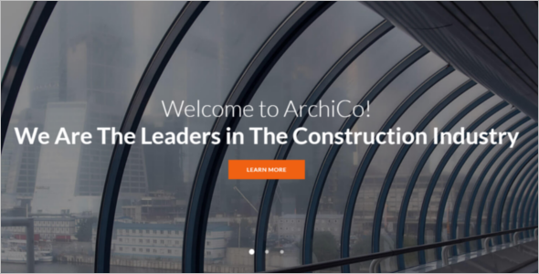 Construction Website Theme