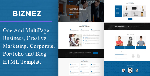 Corporate Blog Template