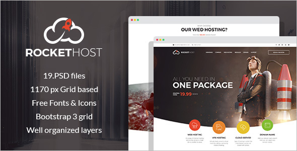 Corporate Hosting WordPress Template
