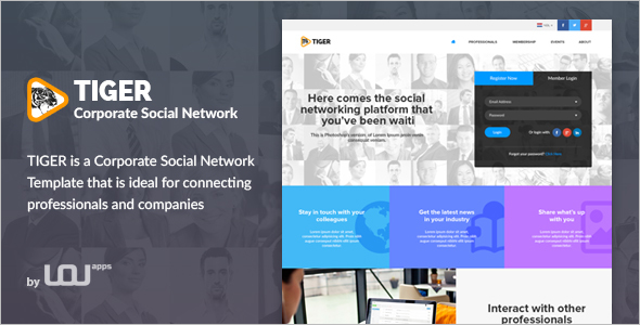 Corporate Social Network Template