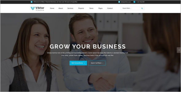 Corporate WordPress Template Model