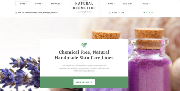 Cosmetics Store Bootstrap Website Template
