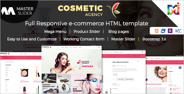 Cosmetics Store HTML Template